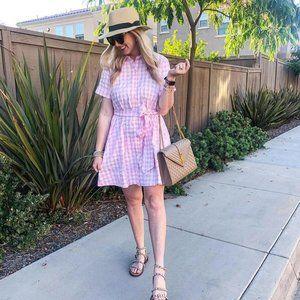 Lisa Marie Fernandez  Gingham Shirtdress